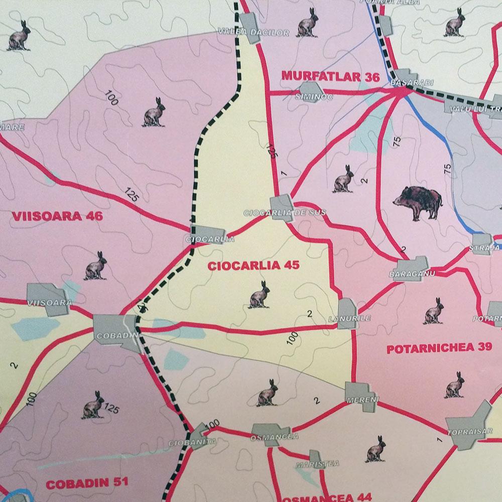 Fondul de vânătoare nr. 45 Ciocârlia - AJVPS Constanța